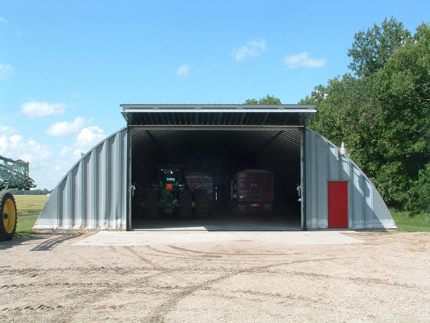 Agricultural retrofit bi-fold door