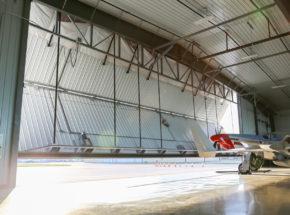 Opening Bi-Fold Aviation Hangar Door