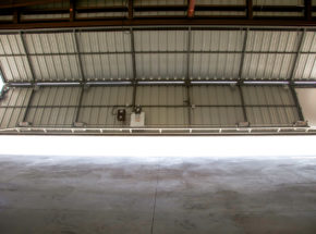 Inside Bi-Fold Hangar Door