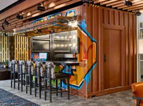 Container Bar Bi-Fold Door