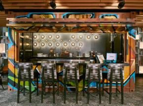 Bi-Fold Door on Contianer Bar