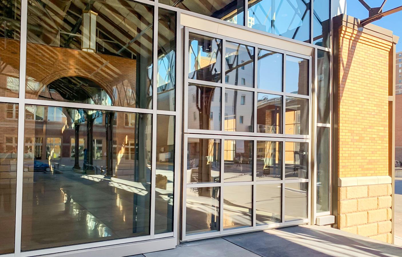 Glass Bi-fold Door at the Depot, Minneapolis, MN