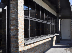 Architectural Bi-Fold Door at Tavern Grill in Fargo, ND.