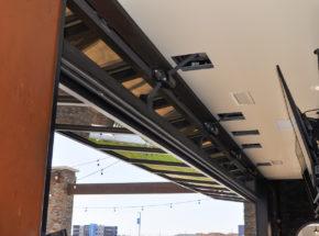 Open indoor view of Midland's Architectural Bi-Fold Door