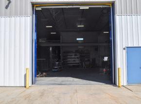 Open Vertical Bi-Fold Door