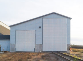 Bi-Fold Fertilizer Storage Door