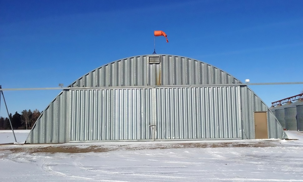 Bi-fold quonset curvet retrofit - before