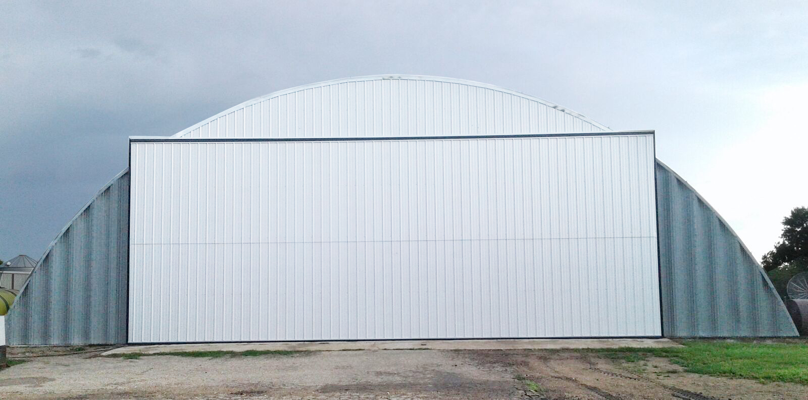 Retrofit Quonset Bi-Fold Door