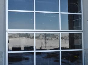 Architectural bi-fold facade