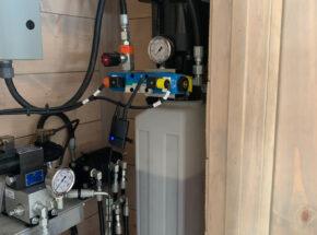 Architectural hydraulic door hydraulic pump